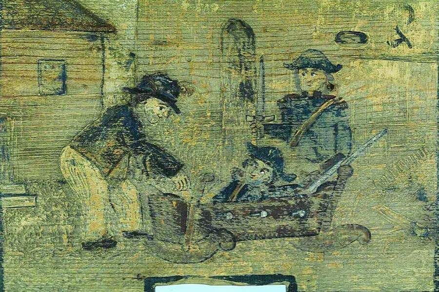 Rezultat iskanja slik za panjska končnica kmet ziblje vojaka